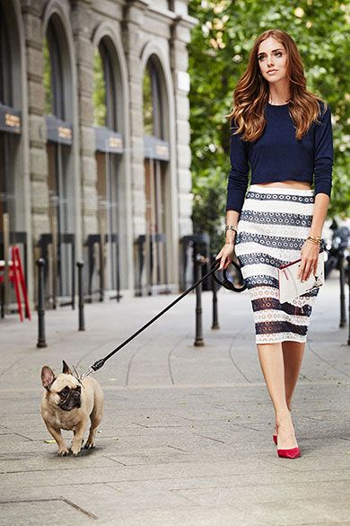 Chiara Ferragni and her Choohound Matilda