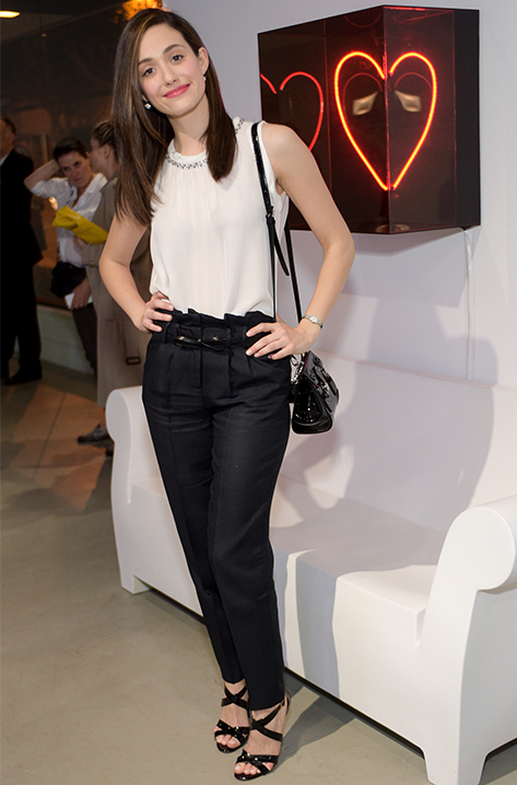 Emmy Rossum wearing Xenia
