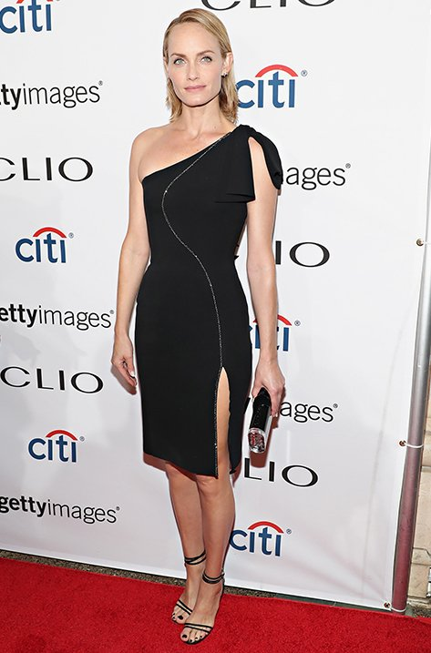 Amber Valletta wearing TIZZY