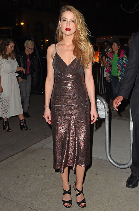 Amber Heard wearing Xenia