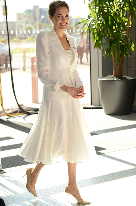Angelina Jolie wearing Agnes