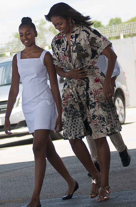 Michelle Obama wearing Chiara