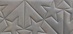 GRAPHIC STAR PRINT EMBOSSED LEATHER