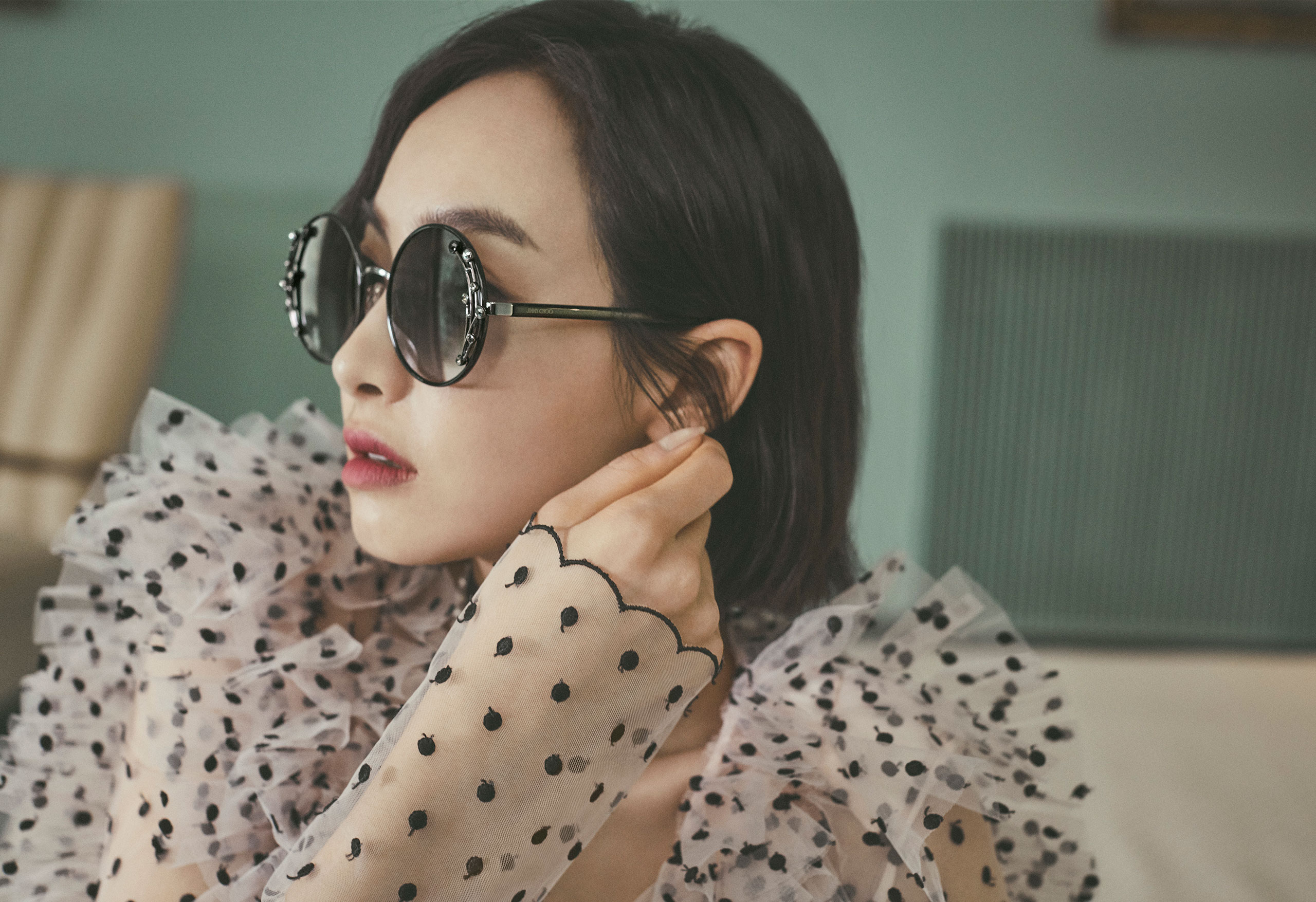 Victoria Song Qian wearing GEMA sunglasses