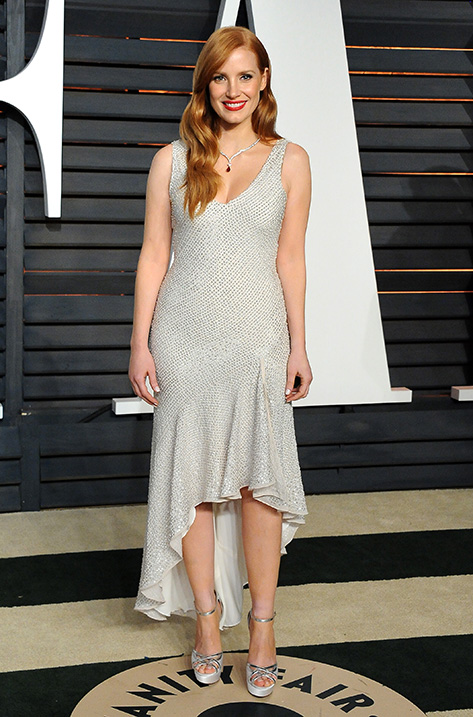 Jessica Chastain wearing Patsy