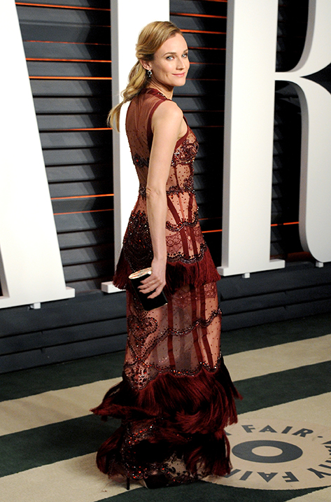 Diane Kruger wearing Pearl and carrying Carmen