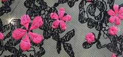 EMBROIDERED FLOWER LACE