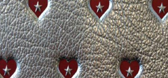 METALLIC SWEETHEART PRINTED LEATHER