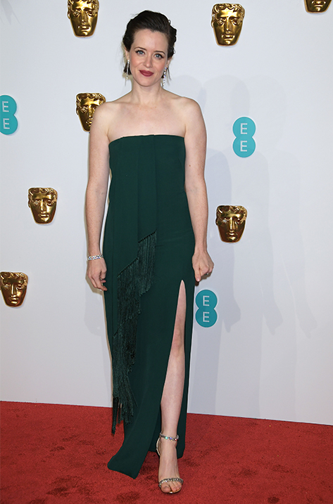 Claire Foy wearing SHILOH